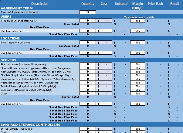 MSP MRR Pricing Calculator