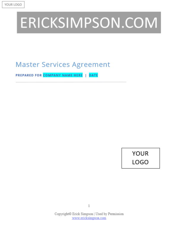 Erick Simpson's Master Services Agreement