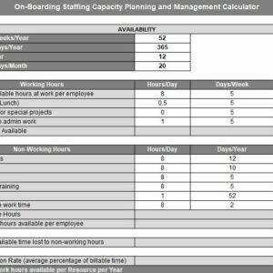 Erick Simpson's On-Boarding Engineer Capacity Planning and Hiring Calculator