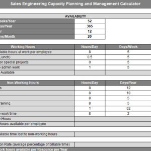 Erick Simpson's Sales Engineer Capacity Planning and Hiring Calculator